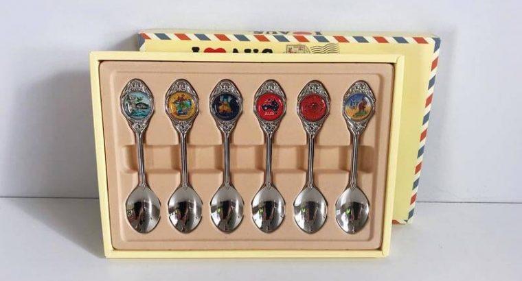 Boxed Set Souvenir Premium Metal Spoons Australia