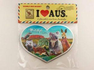 Double Sided Magnet Heart Australia