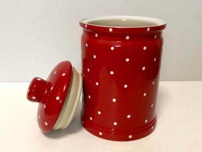 Retro Ceramic Red Cookie Jar