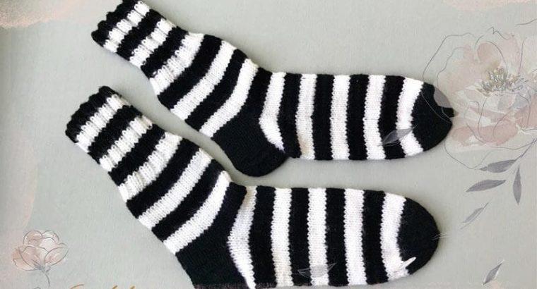 Black & White Knitted Socks