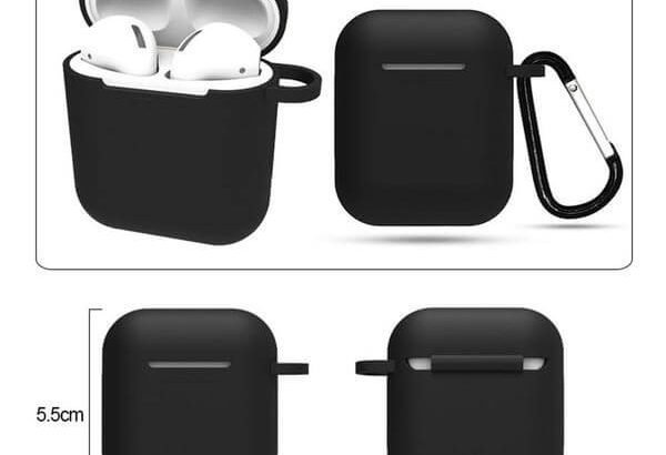 Black Silicone Case Cover for Apple AirPods