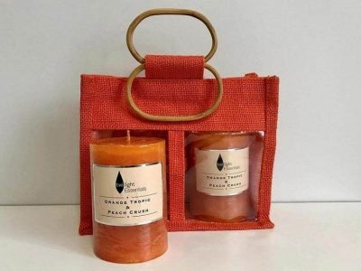 Orange Tropic & Peach Crush Candles in a Bag