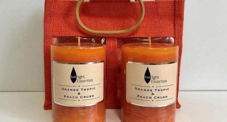 Orange Tropic & Peach Crush Candles in a Bag