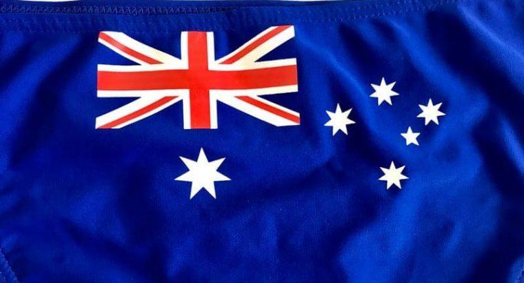 Australian Flag Bikini (Royal Blue)