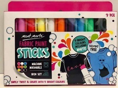 Fabric Paint Sticks 9 Bright Colours