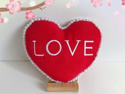"""Heart Shape """"Love"""" Cushion"""