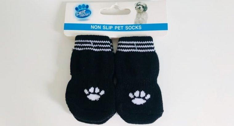 Non Slip Black Pet Socks