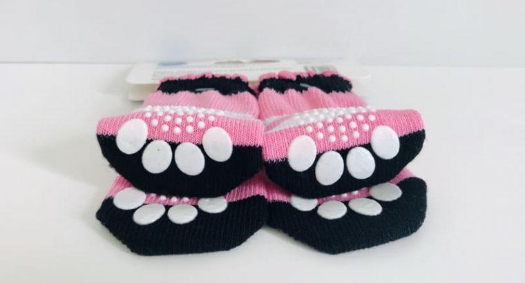 Non Slip Pink Pet Socks