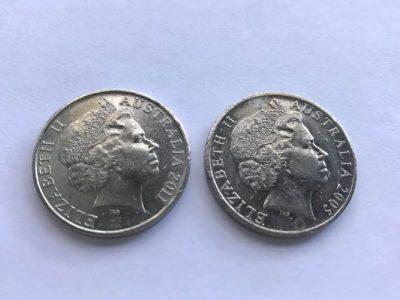 20 Cent Australian Coins of 2005 & 2011