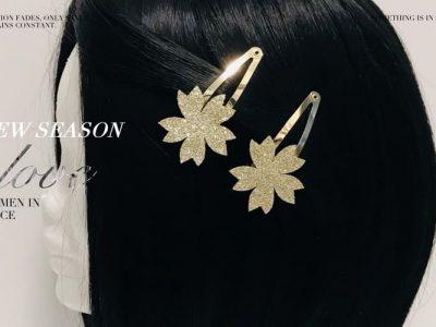 Gold Flower Clips for Hair